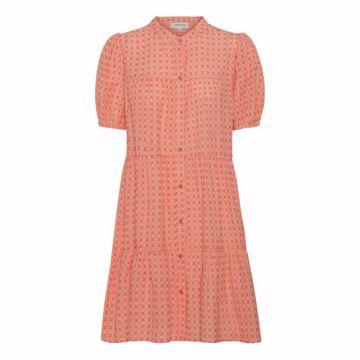 SANNA ORANGE CHECK DRESS